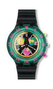 RETRO SWATCH *NEW CONDITION* 1994 Aquachrono 'SEPPIA' SBM102 Chronograph Watch