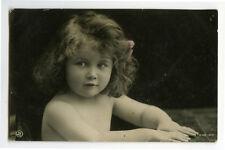 c1910 Children Child PRECIOUS LITTLE GIRL Traut photo postcard