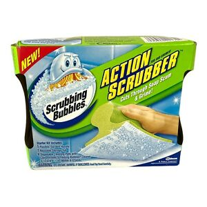 Scrubbing Bubbles Action Scrubber Tub Shower Starter Kit 4 Handle Tub Pads NEW