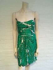Milly New York Strapless Paisley Print Esquisite Dress Size UK 8 US 4 S Small