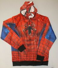 SPIDER-MAN COSTUME SUBLIMATED HOODIE SWEATER JACKET MENS ADULT MARVEL XL X LARGE