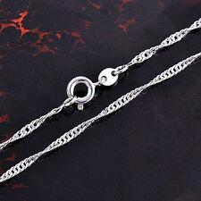 NWOT 9k Chic White Gold Filled Pretty Swirl Wavey Design Chain Necklace