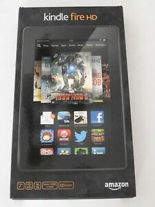 "New Sealed in Box Amazon Kindle Fire HD 3rd Generation 16GB Wi-Fi 7"" Black Dolby"