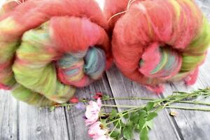 """Hand Carded   Kitchen Sink Batt  X 200   Grams """"Colour Therapy"""""""