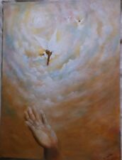 "Inspirational Painting ""A Helping Hand"" - Signed Acrylic on Camvas"