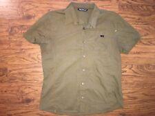 Arcteryx Short Sleeve Plaid Button Down Shirt (Mens Small S) Plaid Sewn Logo