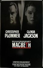MACBETH BROADWAY WINDOW CARD - CHRISTOPHER PLUMMER, GLENDA JACKSON