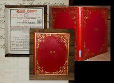 1842 calendario prachteinband castillo Tegernsee ortográfico-calendario