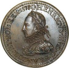 O5773 Rare Médaille Henri III 1578 Roi Pologne Baron Desnoyers SPL