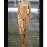 NEW Alexander Wang foil-appliquéd crumpled satin Gray/Slate dress Size Small S