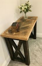 BESPOKE RUSTIC CHEVRON STYLE CONSOLE TABLE / DESK / TABLE - MADE TO MEASURE !