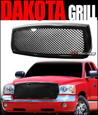 For 2005-2007 Dodge Dakota Black Luxury Mesh Front Bumper Grill Grille Guard Abs
