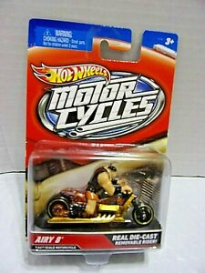 AIRY 8-MOTORCYCLE w/REMOVABLE RIDER REAL DIE-CAST 1/64 SCALE LMT. ED.