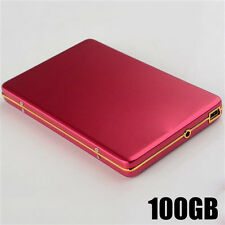 External Hard Drive HDD Portable Laptop Mobile Hard Disk 5400rpm USB 100GB Red