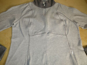 Lululemon 12 Runderful Half Zip Mini Check Pique White/Heathered Slate Gray EUC!