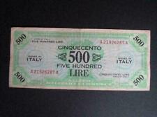 500 Lire ND 1943 Italy (Allied Occupation) AMC p-M22 F/VF WW2