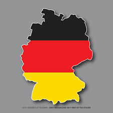 SKU2716 - Germany German Map Flag Vinyl Sticker Bumper Car - 91mm x 120mm