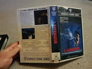 VHS Horreur L'ascenseur Édition Warner Home Video
