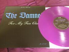 The Damned – For My Fan Club RARE PURPLE VINYL LP near mint!