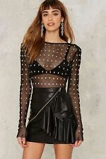 Nasty Gal Collection Le Chat Noir Mesh Bodysuit large new with tags