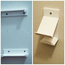 Wall mount  for PS4  SLIM CONSOLE & Controller headset, mounting screws (white)