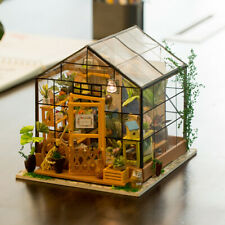 Rolife Dollhouse Kit Miniature DIY Green House Kits Birthday Gift for Women Girl