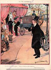 VIE FIEVREUSE MARIAGE ENTERREMENT EMMANUEL BARCET HUMOUR 1919 PRINT