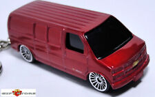 RARE KEY CHAIN DARK RED CHEVROLET CHEVY EXPRESS 3500 NEW CUSTOM LIMITED EDITION