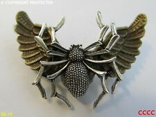 Steampunk broche insignia con Pin Bronce Owl Alas Plata Araña Gótico Harry Potter