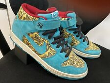 authentic Mens Nike SB Dunk Mid Peacock 2007 shoes size 11