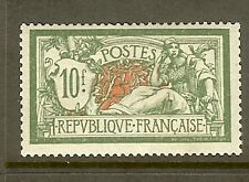 """FRANCE STAMP TIMBRE N° 207 """" MERSON 10F VERT ET ROUGE """" NEUF xx TTB"""