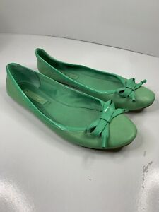 ENZO ANGIOLINI Women's Green Ballet Flats Size 9 M - Slip On Shoes