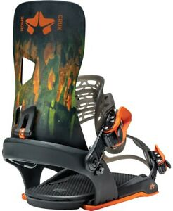 Rome Crux Snowboard Bindings, Men's L/XL (US 10.5+), Camo New 2021