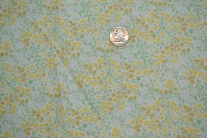 """Cotton quilting fabric 44"""" x 1.5 yards, small brown & yellow flowers on cream"""