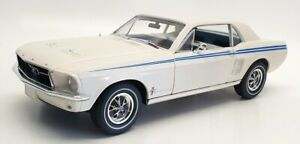 Greenlight 1/18 Scale Diecast #13584 - 1967 Ford Mustang Coupe - White