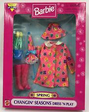 BARBIE FASHION AVENUE SPRING CHANGIN' SEASONS DRESS 'N PLAY #68652 RAIN COAT