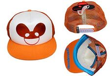 Official Deadmau5 Orange Foil Logo Trucker Hat Adjustable Baseball Cap Snapback