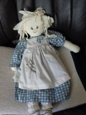 "21"" Vintage Sweet & Sassy Pinafore Doll Scratch Heart/ Pocket Painted Face"