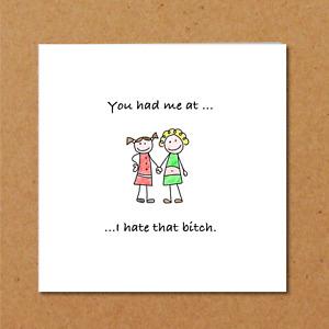 Bitch Birthday Card best friend bestie girl female funny amusing fun humorous
