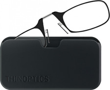ThinOPTICS Reading Glasses Black 2.00 Strength Frames Case