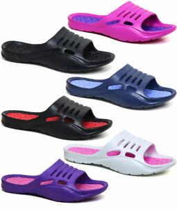 Ladies Flip Flops New Beach Summer Pool Shower Sliders Sandals Waterproof Shoes