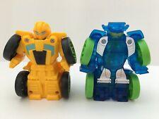 Transformers Rescue Bots Lot of 2 Flip Racers Bumblebee & Blurr