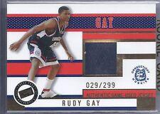 2006 Press Pass Basketball Rudy Gay Connecticut Huskies Jersey Card #029/299
