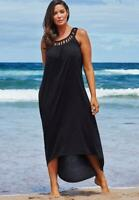 $60 NWT Margarita High Low Black Dress Cover Up SZ 10/12 Swimsuits for all 1588