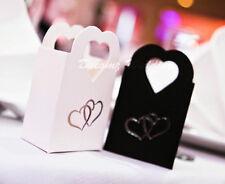 BIANCO 50 + 50 Nero Matrimonio, fidanzamento, anniversario, party, scatole di favore - 100