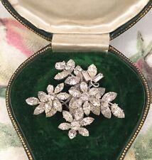 Vintage Jewellery Donald Simpson Jewelcrest Jewel Crest Crystal Brooch Pin