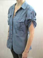 AX Armani Exchange Size M or 12 Blue Button Down Shirt