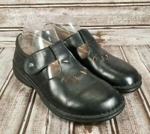 FINN COMFORT TOFINO Cut Out Black Leather Women's 39 (US 8-8.5) Mary Jane Shoes