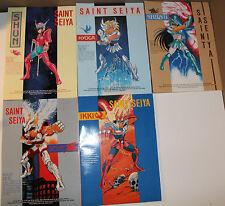 5 x 1986 Saint Seiya Album Ikki Shiryu Hyoga Shun Seiya Ellon