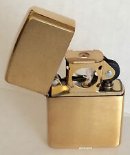 Zippo Windproof Brushed Brass Pipe Lighter, 204BPL, New In Box
